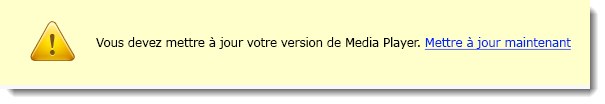 Mise à jour Media Player